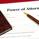 Power of Attorney contract with pen